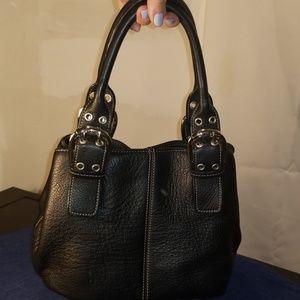 TIGNANELLO LEATHER SMALL BLACK BAG